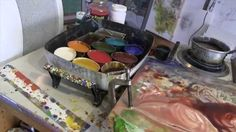Dale Roberts Encaustic Painting Demo...love how he exposes the colors from underneath