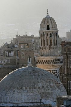 Yemen. Mosque in old Sana'a   - Explore the World with Travel Nerd Nici, one Country at a Time. http://TravelNerdNici.com
