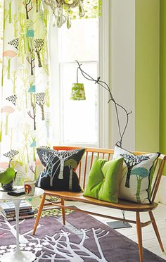 Designer Guild - available in Nova store in Ljubljana - is one of my favorite brands. They offer wallpaper, cushions, curtains - pricey, but worth it!