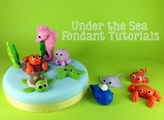Baby Sea Turtles with Fondant Tutorial   Under the Sea Themed Tutorial: Fondant Clown Fish