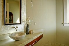 Shell Tile Feature Wall