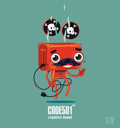 NEW DAY - NEW CHARACTER | CODE501 | Today - 17 characte by CODE501 - CREATIVE BAND !, via Behance