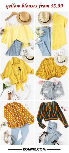 yellow blouses from $5.99