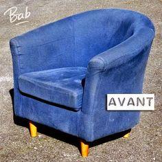 On peut trouver pour une bouchée de pain des fauteuils ou canapés en bon état. Mais souvent le tissu d'origine est abîmé ou il ne nous plaî...