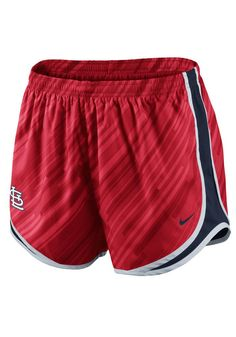 St Louis (STL) Cardinals Nike Womens Red Dri-FIT Tempo Short http://www.rallyhouse.com/mlb/nl/st-louis-cardinals/a/womens?utm_source=pinterest&utm_medium=social&utm_campaign=Pinterest-STLCardinals $38.00