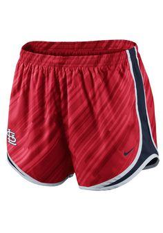St Louis (STL) Cardinals Nike Womens Red Dri-FIT Tempo Short http://www.rallyhouse.com/mlb/nl/st-louis-cardinals/a/womens?utm_source=pinterest&utm_medium=social&utm_campaign=Pinterest-STLCardinals $38.00
