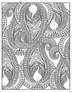 From Creative Haven Crazy Paisley Coloring Book By Dover