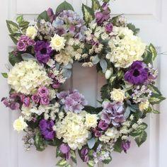 Large Door Wreath-Spring Wreaths-Easter by ReginasGarden on Etsy
