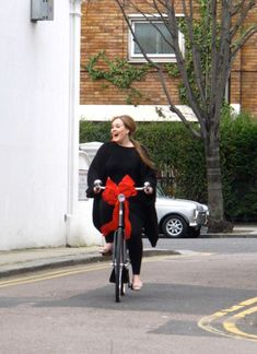 Adele - super happy on her new #bike