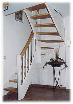 Stairs coiled, beech / white – # beech white # coiled # stairs – Famous Last Words Wooden Staircases, Modern Staircase, Staircase Design, Loft Stairs, House Stairs, Loft Conversion Stairs, Space Saving Staircase, Restoration Hardware Bedroom, Attic Master Bedroom