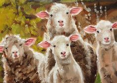 "Daily+Paintworks+-+""Feed+My+Sheep""+-+Original+Fine+Art+for+Sale+-+©+Linda+Lowery"