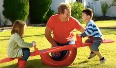 Better Homes and Gardens has a great project for you that's easy to complete and will delight the youngsters with this tire see-saw.