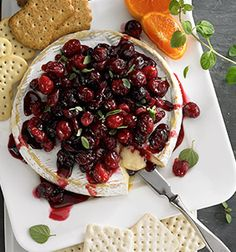 Check out this delicious recipe for Baked Brie with Roasted Sweet Cranberries from 25 Merry Days at Kroger!