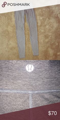 Wunder Under Lululemon Leggings Size 4 Full length gray wunder under Lulu Lemon leggings in very good condition! lululemon athletica Pants Leggings