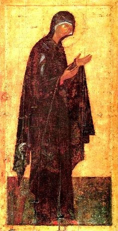 Theophanes the Greek, Icon from the Deësis Tier c. 1399 Egg tempera on wood, height 210 cm Cathedral of the Annunciation, Kremlin, Moscow Byzantine Icons, Byzantine Art, Madonna, Andrei Rublev, Faith Of Our Fathers, Greek Icons, Web Gallery Of Art, Jesus Christus, Moscow