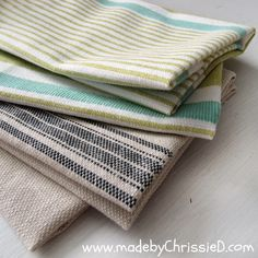 made by ChrissieD: Super Easy & Fast Make - A Dish Towel Tute
