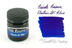 Just got a sample of this blue ink. Looks great in large nibs on extra smooth paper.