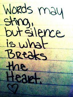 la herida del silencio: