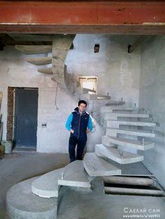 Винтовая лестница из бетона своими руками   Сделай Сам www.sdelay.tv