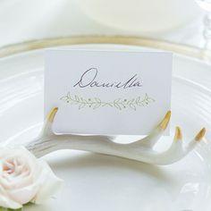Faux Antler Wedding Place Card Holder Set - Wedding Reception Items - Rustic Wedding - Wedding Themes - My Wedding Wedding Places, Wedding Place Cards, Wedding Table, Wedding Favors, Rustic Wedding, Wedding Ideas, Wedding Parties, Woodland Wedding, Wedding Inspiration