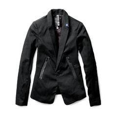 Cut in a long, lean fit, this jacket is a wardrobe cornerstone.