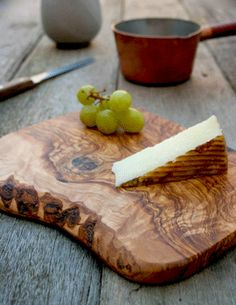 Rustic Olive Wood Chopping / Cheese / Serving / Cutting Board - Length x Width x Depth
