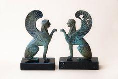 Mythic Sphinx Bronze Sculpture, Metal Art Sculpture, Museum Quality, Greek Mythology, Collectible Art, Home Decor, Mythic Creature