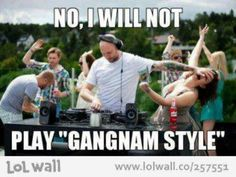 Gangnam Style rejection