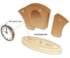 Wood Clock Plans | Art Deco Desk Clock Woodworking Plan