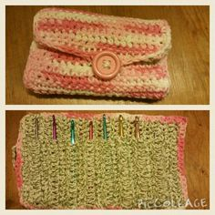 Crocheted needle holder