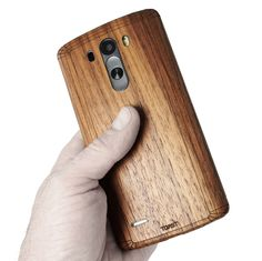 A superbly crafted real wood cover for LG G.  This crazy-creatively engineered one-piece cover wraps all the way around the phone's back & sides.  Seriously stylish with precise details, laser-cut & hand-finished.  Simple peel & stick application.  Optional front cover can be added for extra protection & toastiness.