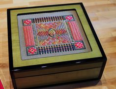 Green Tulipwood Colored Lacquer Box including by ADORNBYORNA, $186.00