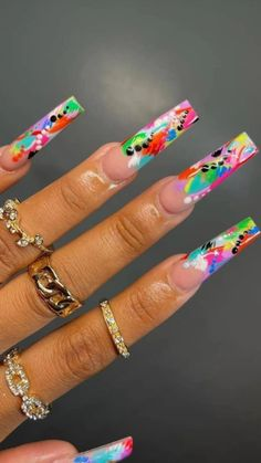 Coffin Nails, Gel Nails, Nail Polish, Garra, Spring Nails, Summer Nails, Stilettos, Nailart, Pink Acrylic Nails