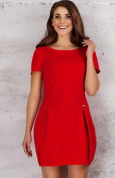 Infinite You M059 sukienka czerwona Elegancka sukienka dostępna w dwóch modnych kolorach