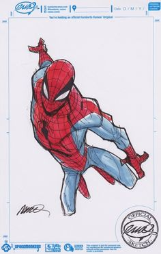 Spider-Man art by Humberto Ramos
