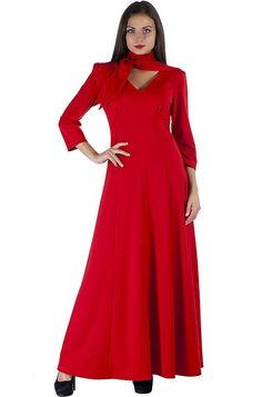 Red Maxi Dress Women's/Evening Long Dress /Prom by PlayFashion Dress Prom, Prom Dresses, Scarlet Witch Costume, Dress Plus Size, Red Maxi, High Neck Dress, Costumes, Trending Outfits, Fashion