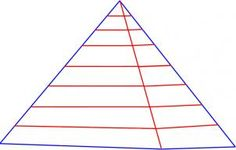 how to draw a pyramid step 2