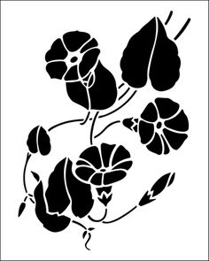 Flower stencils from The Stencil Library. Stencil catalogue quick view page 2.