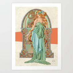Eté Art Print by Jill Sanders Illustration - $16.00