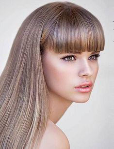 4 Popular Hair Cuts for Thin Hair Thick Bangs, Long Hair With Bangs, Very Long Hair, Thin Hair Haircuts, Hairstyles With Bangs, Straight Hairstyles, Cool Hairstyles, Beautiful Long Hair, Gorgeous Hair