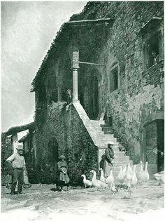 Antica fattoria nel Mugello - Da libro Toscana di Attilio Mori (1927)   #TuscanyAgriturismoGiratola