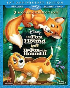 Rox et Rouky: Edition Anniversaire / Rock et Rouky II // The Fox and the Hound: Anniversary / The Fox and the Hound II (Bilingual Blu-ray Combo Pack) [Blu-ray + DVD] (Version française) Disney Movie Club, Walt Disney Movies, Film Disney, 2 Movie, Disney Dogs, Disney Stuff, Movie Trivia, Disney Disney, Movie List