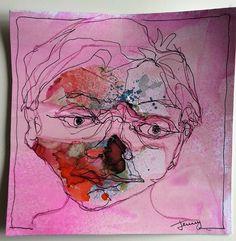 Paperscrap face    by Jenny de Bode