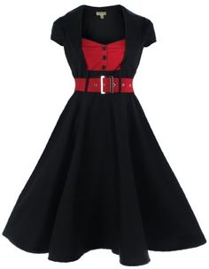 Lindy Bop 'Geneva' 1950's Vintage Swing Party Dress (36, Noir) Lindy Bop http://www.amazon.fr/dp/B00D91TWQK/ref=cm_sw_r_pi_dp_VLcVtb17PQM0Q1ZK