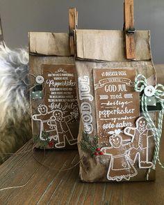Utfordring for november - Jul Xmas, Christmas, Ale, Origami, Burlap, November, Reusable Tote Bags, Cards, Scrapbooking