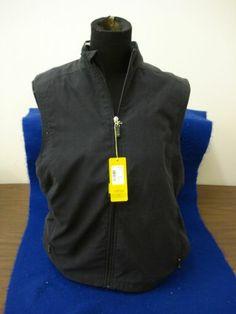 J New with Tags IZOD Zip Front Black Vest Woman's Small Po MA04780 | eBay
