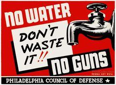 No water - no guns Don't waste it!!