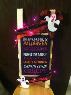 Lighted Halloween Ladder by AuntieBeezz on Etsy