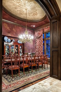 Jauregui Architects, Interiors & Construction: Portfolio of Luxury Custom Homes ~ Love the entry & the ceiling for a large home ....