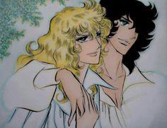 Fan art by Kodemari Manga Anime, Anime Kiss, Old Anime, Anime Art, Lady Oscar, Ghost Rider, Disney Cartoons, Art Google, Anime Love